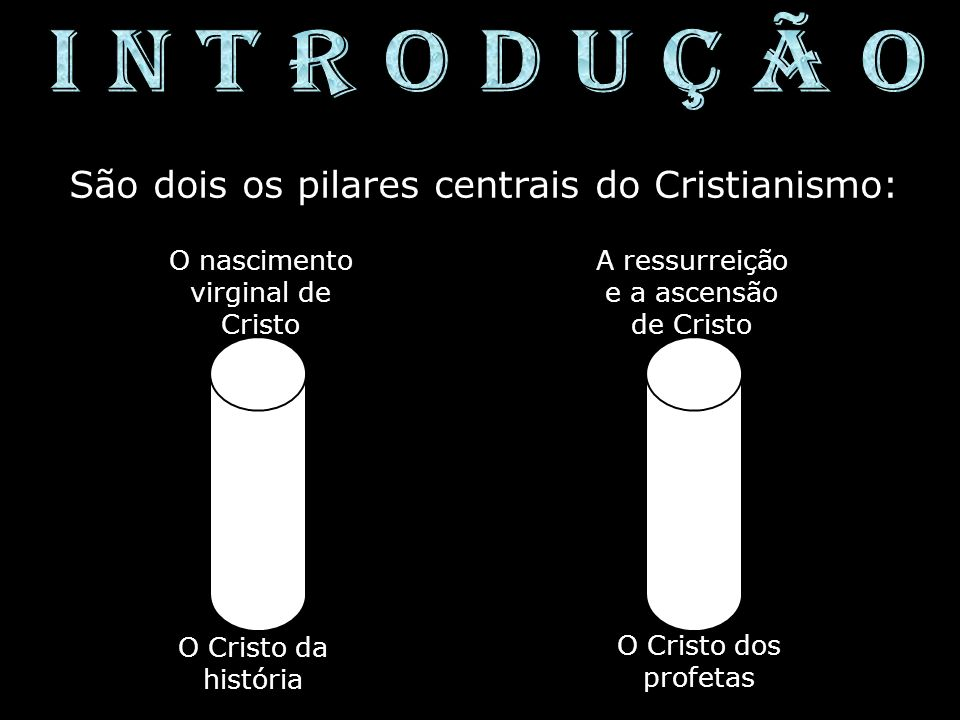 I N T R O D U Ç Ã O São dois os pilares centrais do Cristianismo: