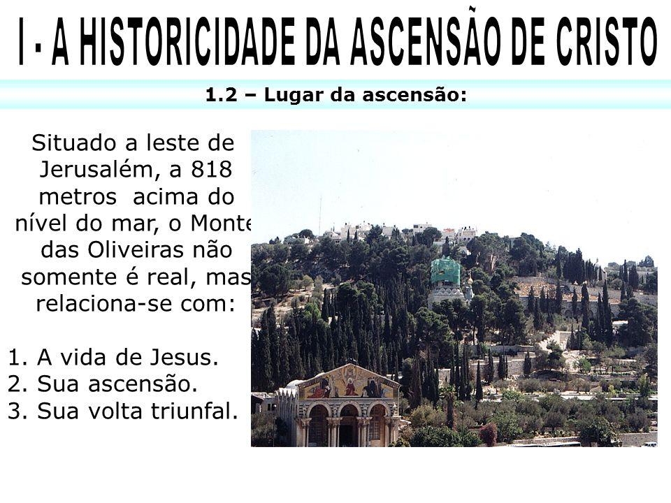 I - A HISTORICIDADE DA ASCENSÃO DE CRISTO