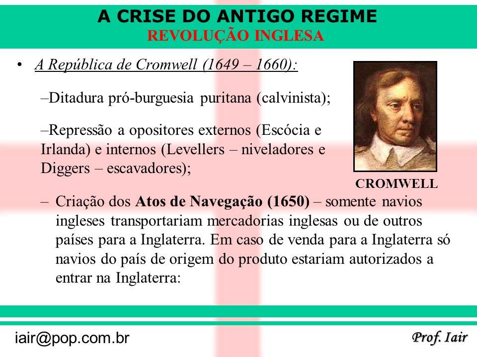A República de Cromwell (1649 – 1660):