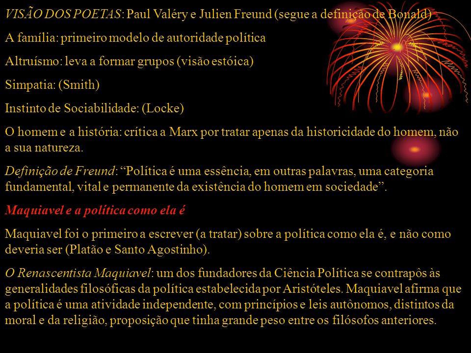 VISÃO DOS POETAS: Paul Valéry e Julien Freund (segue a definição de Bonald)