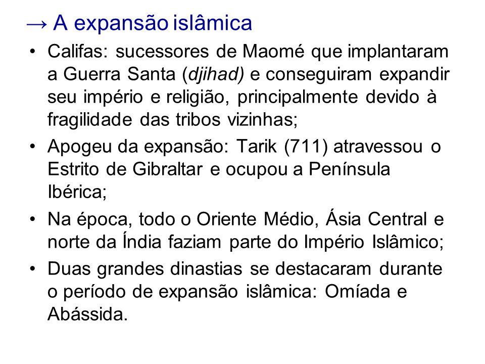 → A expansão islâmica
