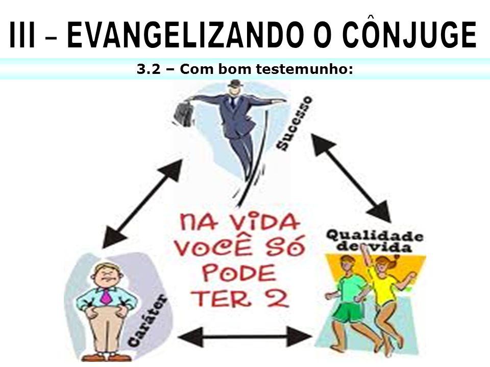 III – EVANGELIZANDO O CÔNJUGE