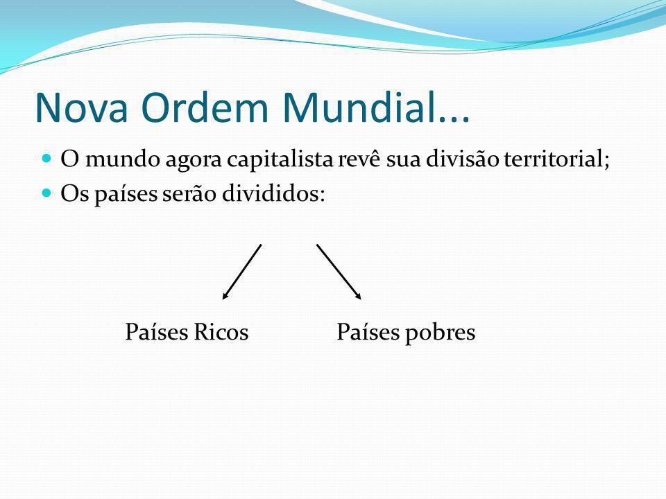 Nova Ordem Mundial... O mundo agora capitalista revê sua divisão territorial; Os países serão divididos: