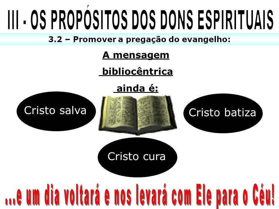 III - OS PROPÓSITOS DOS DONS ESPIRITUAIS