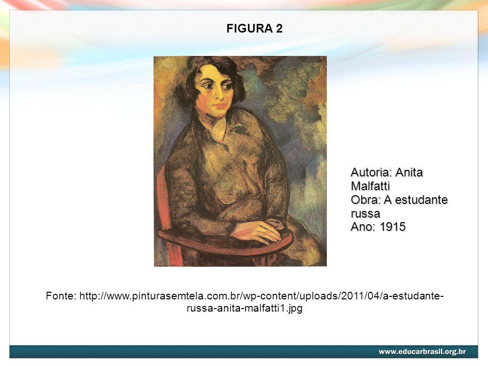 Autoria: Anita Malfatti Obra: A estudante russa Ano: 1915
