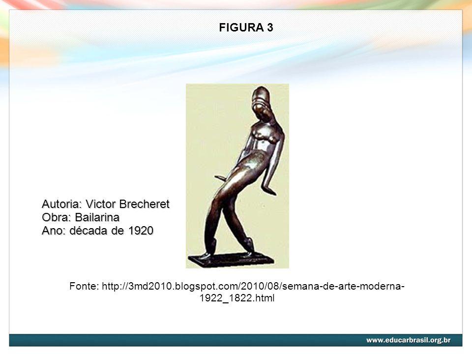 Autoria: Victor Brecheret Obra: Bailarina Ano: década de 1920