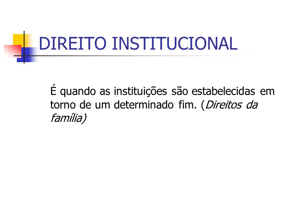 DIREITO INSTITUCIONAL