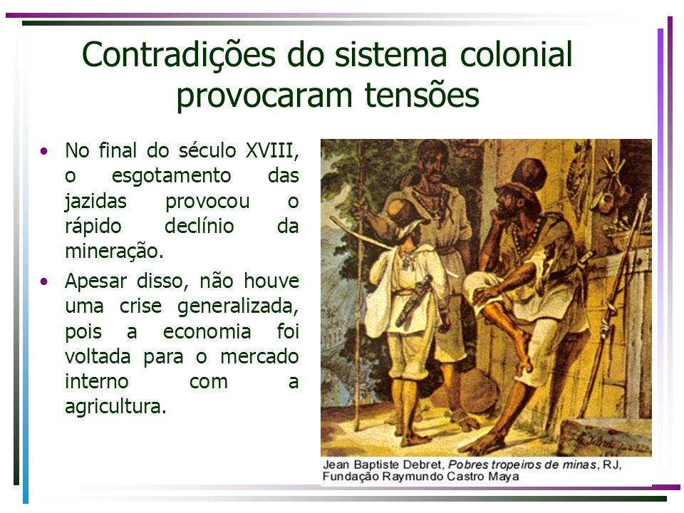 Contradições do sistema colonial provocaram tensões