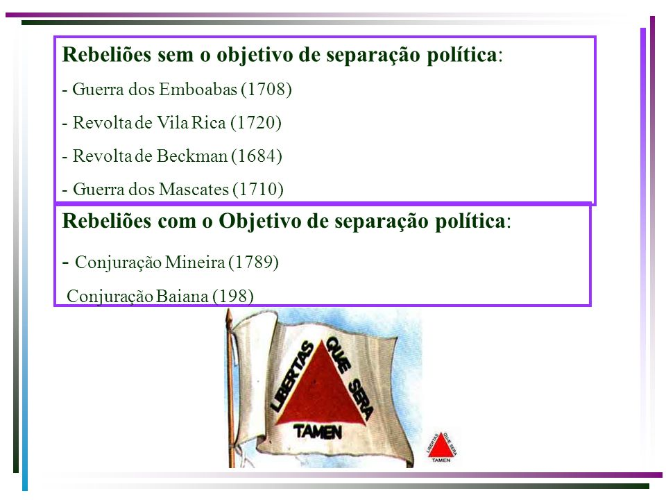 Rebeliões sem o objetivo de separação política: