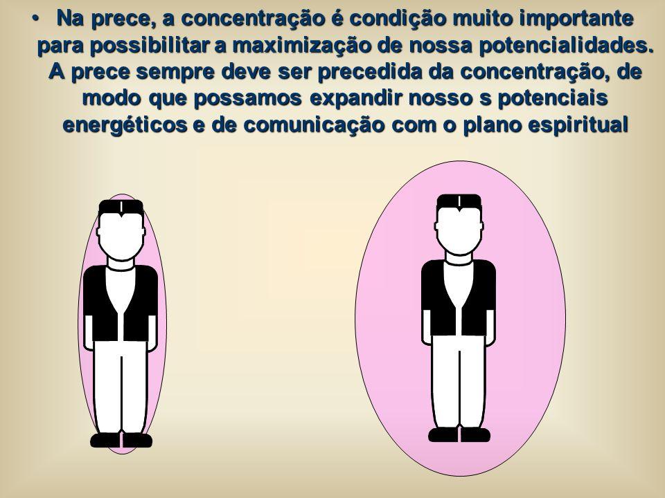 Na prece, a concentração é condição muito importante para possibilitar a maximização de nossa potencialidades.