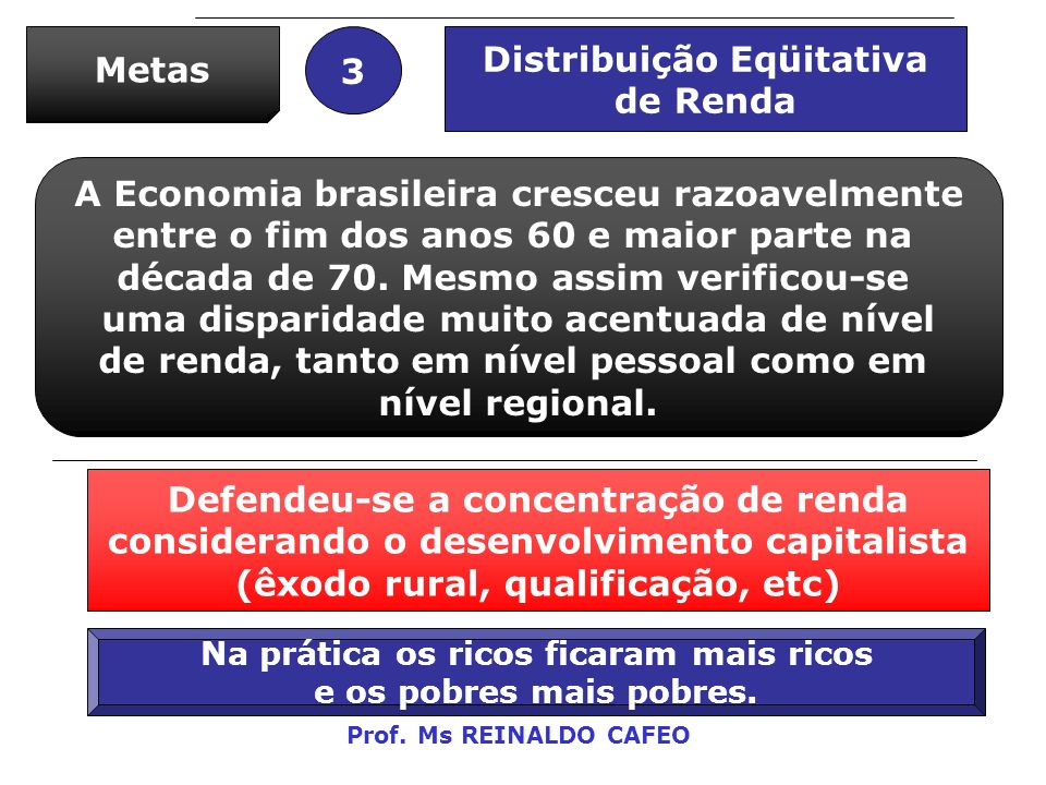 Distribuição Eqüitativa de Renda