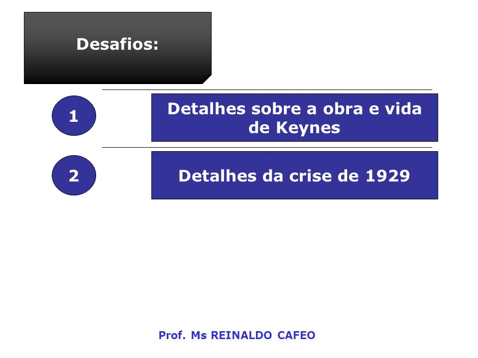 Detalhes sobre a obra e vida de Keynes