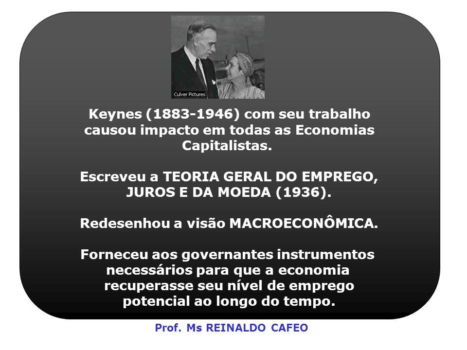 Keynes (1883-1946) com seu trabalho