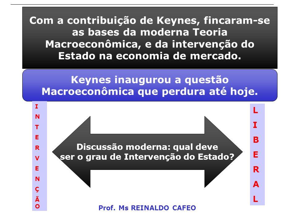 Keynes inaugurou a questão Macroeconômica que perdura até hoje.