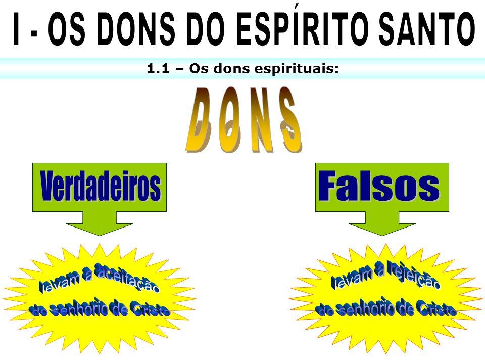 I - OS DONS DO ESPÍRITO SANTO