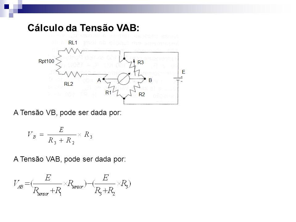 Cálculo da Tensão VAB: A Tensão VB, pode ser dada por: