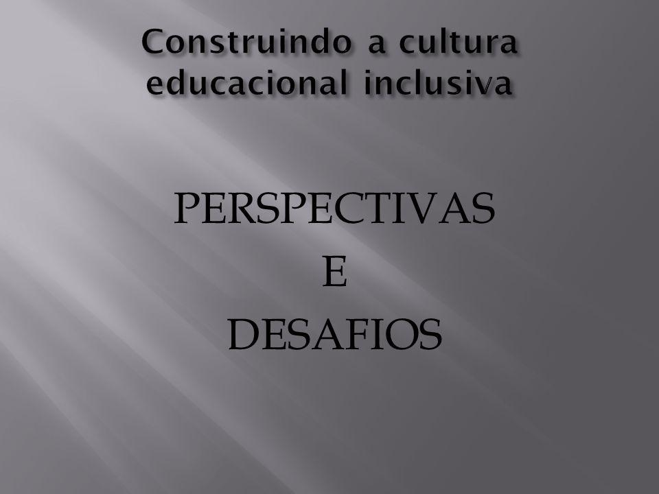 Construindo a cultura educacional inclusiva