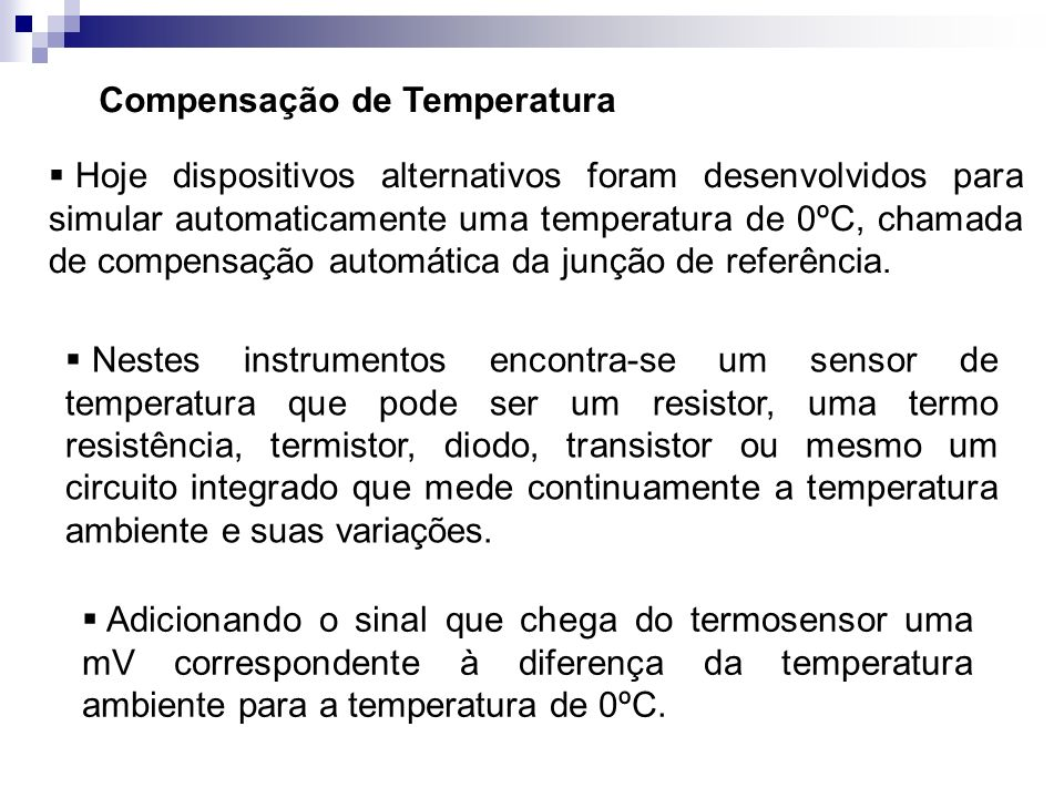 Compensação de Temperatura