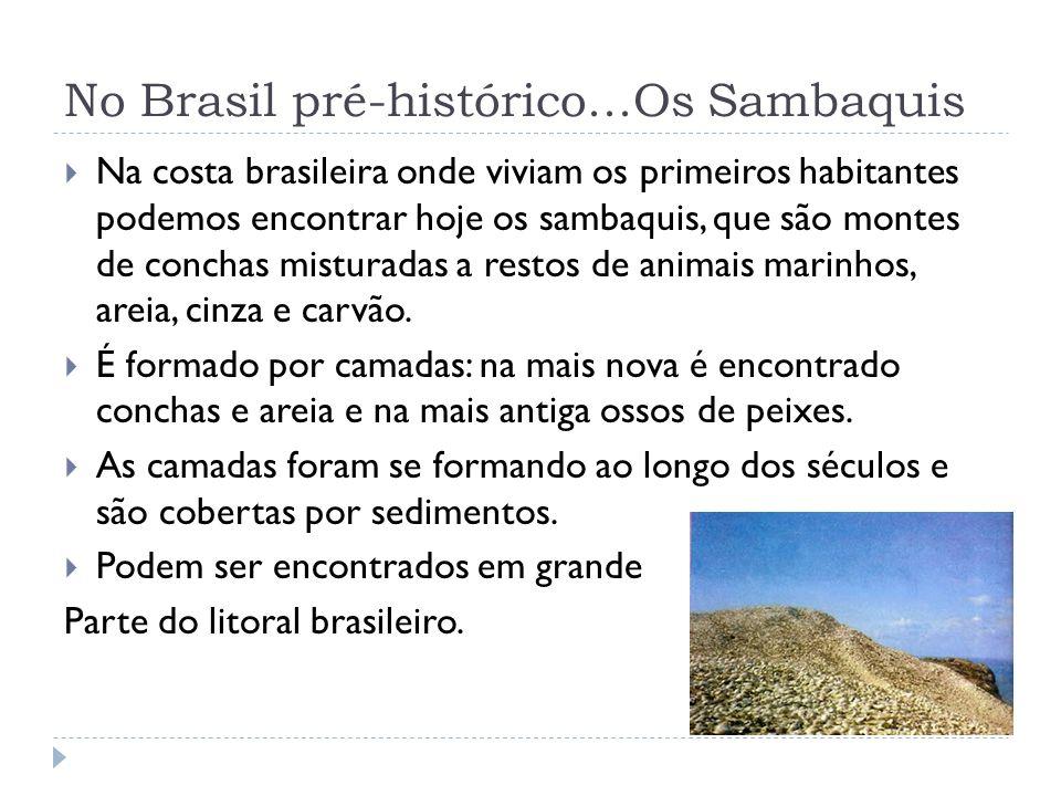 No Brasil pré-histórico...Os Sambaquis