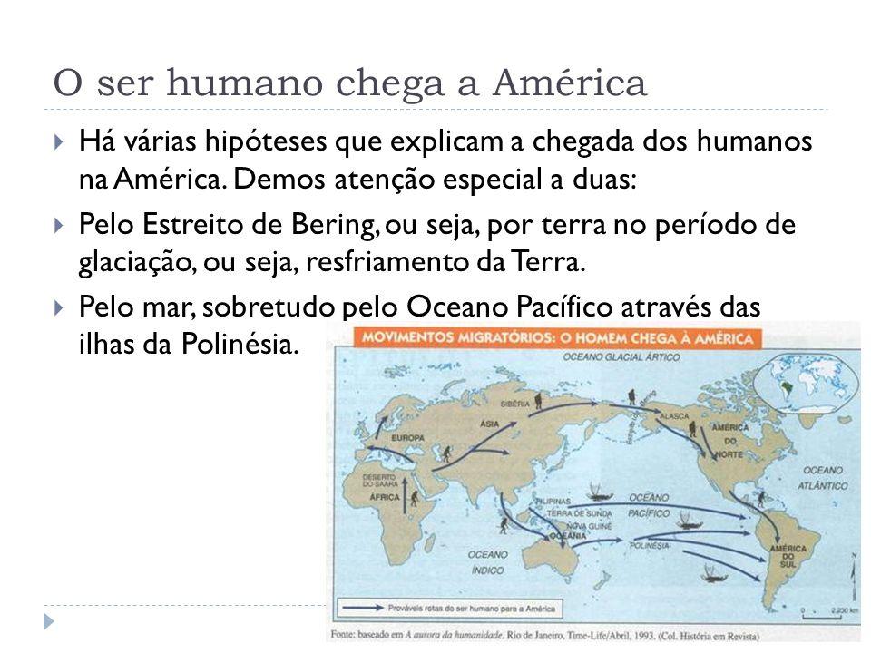 O ser humano chega a América