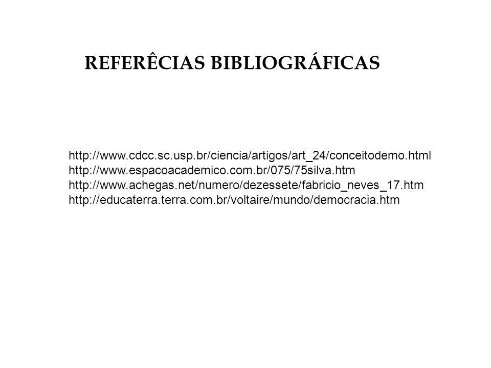 REFERÊCIAS BIBLIOGRÁFICAS