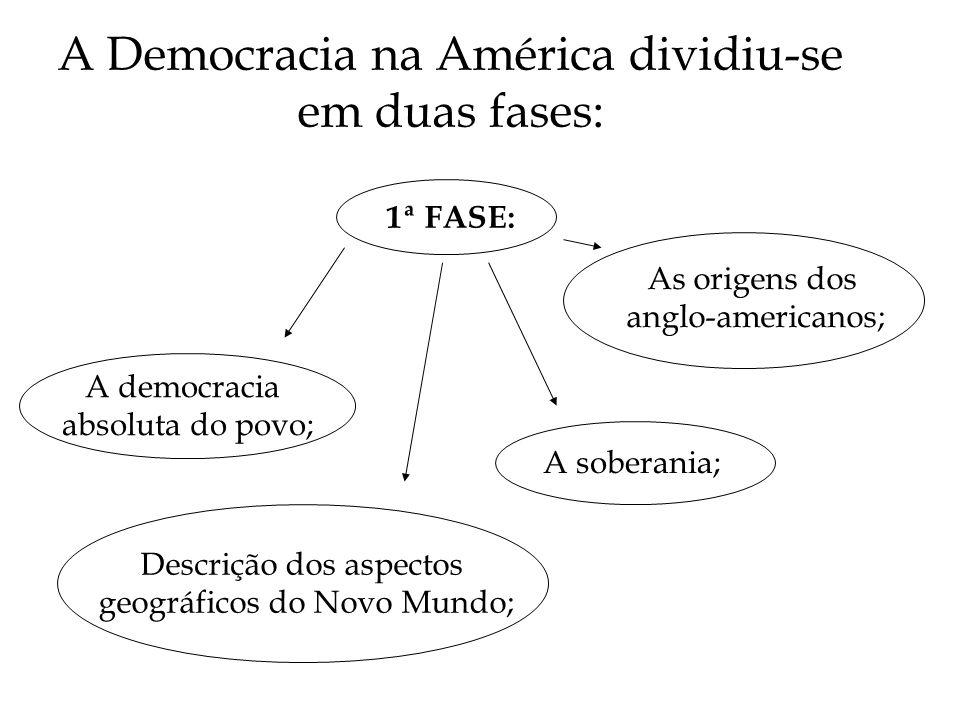A Democracia na América dividiu-se em duas fases: