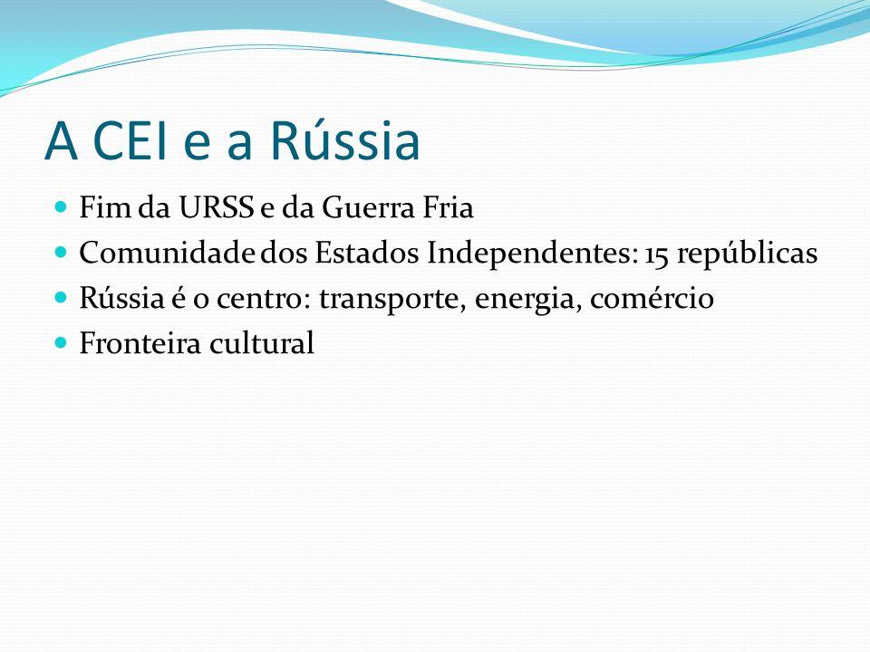 A CEI e a Rússia Fim da URSS e da Guerra Fria