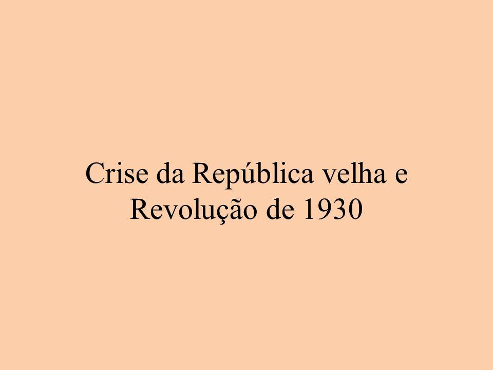 Crise da República velha e Revolução de 1930