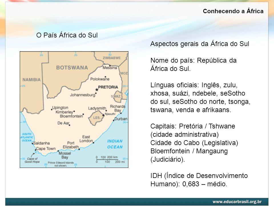 Conhecendo a África O País África do Sul.