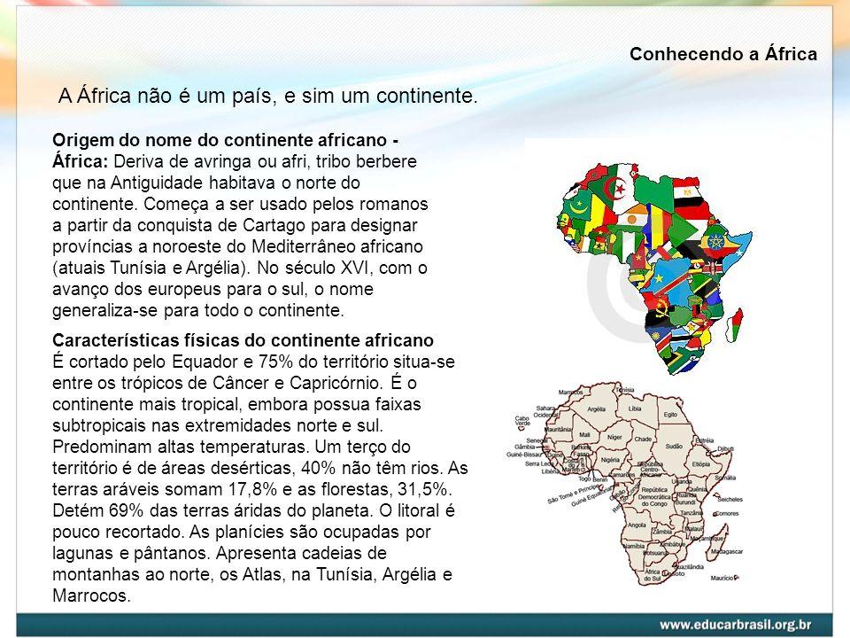 A África não é um país, e sim um continente.