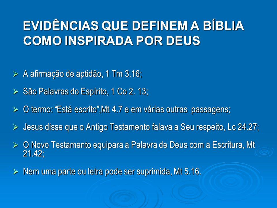 EVIDÊNCIAS QUE DEFINEM A BÍBLIA COMO INSPIRADA POR DEUS