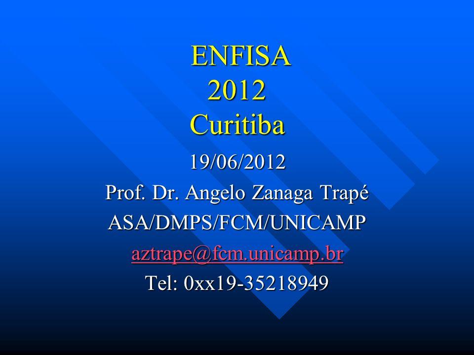 ENFISA 2012 Curitiba 19/06/2012 Prof. Dr. Angelo Zanaga Trapé