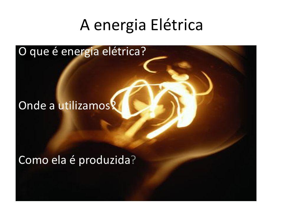 O que é energia elétrica Onde a utilizamos Como ela é produzida