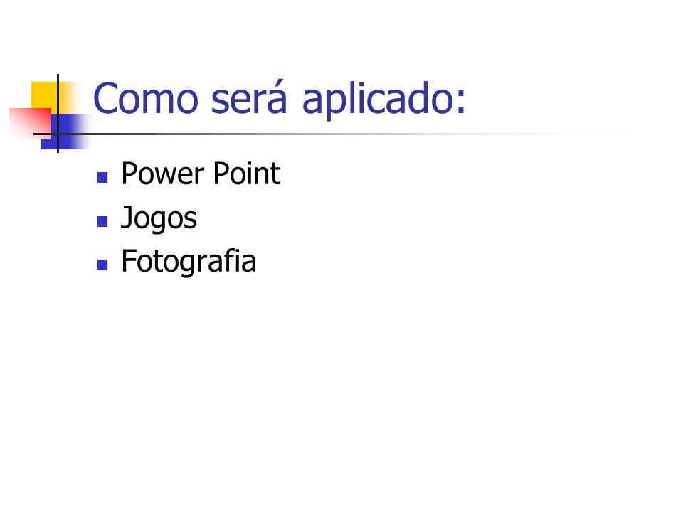 Como será aplicado: Power Point Jogos Fotografia