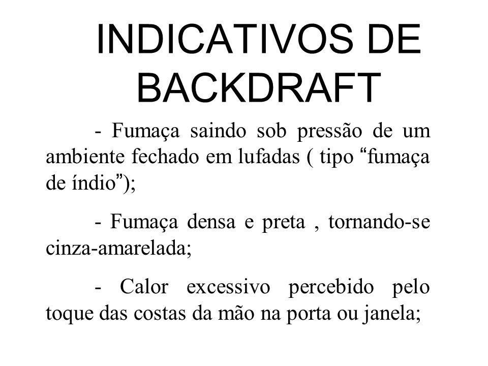 INDICATIVOS DE BACKDRAFT