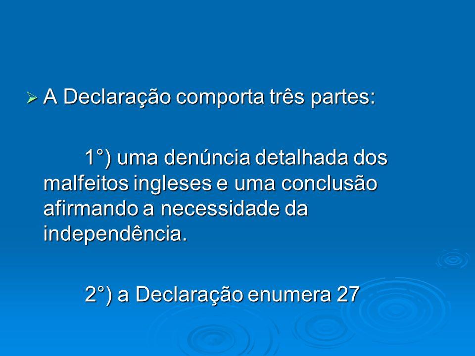 A Declaração comporta três partes: