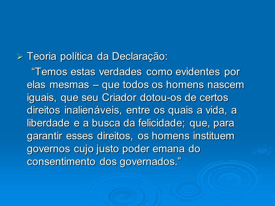 Teoria política da Declaração: