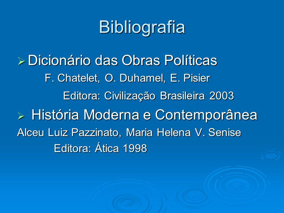 Bibliografia Dicionário das Obras Políticas