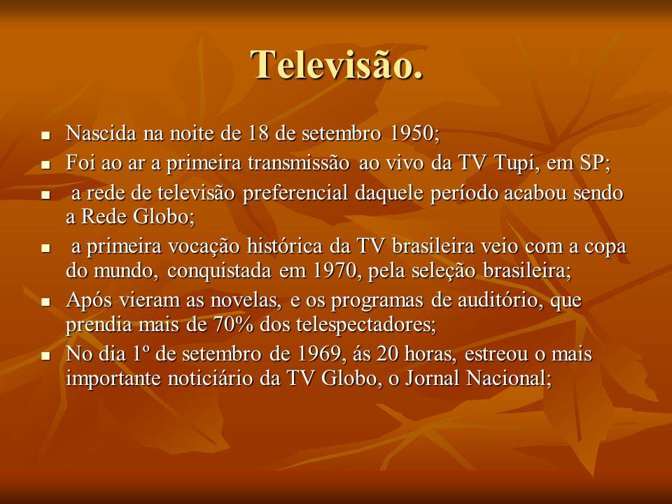 Televisão. Nascida na noite de 18 de setembro 1950;