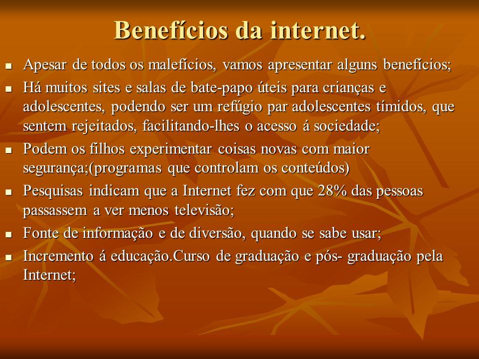 Benefícios da internet.