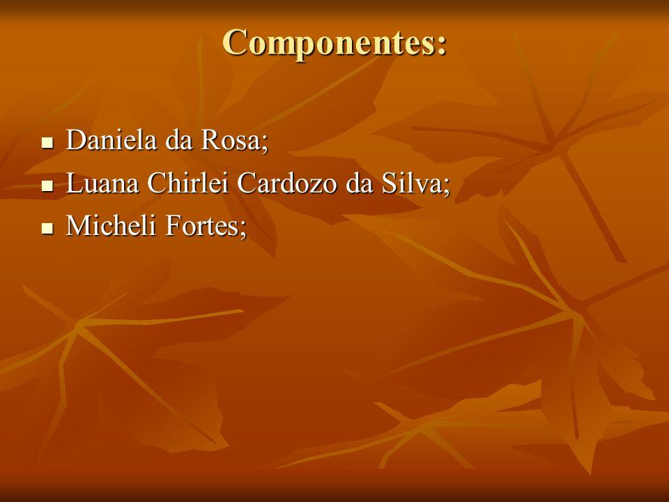 Componentes: Daniela da Rosa; Luana Chirlei Cardozo da Silva;