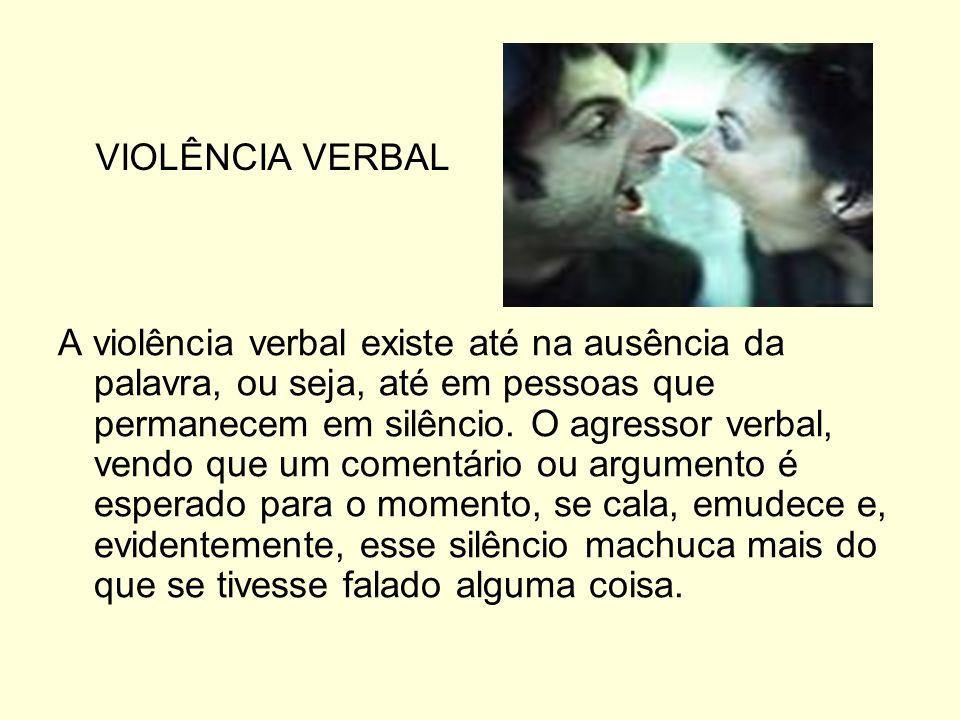 VIOLÊNCIA VERBAL