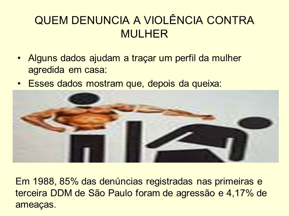 QUEM DENUNCIA A VIOLÊNCIA CONTRA MULHER