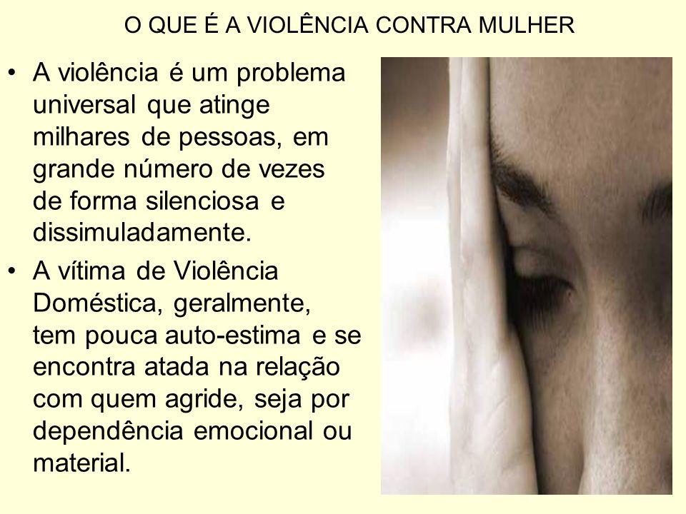 O QUE É A VIOLÊNCIA CONTRA MULHER