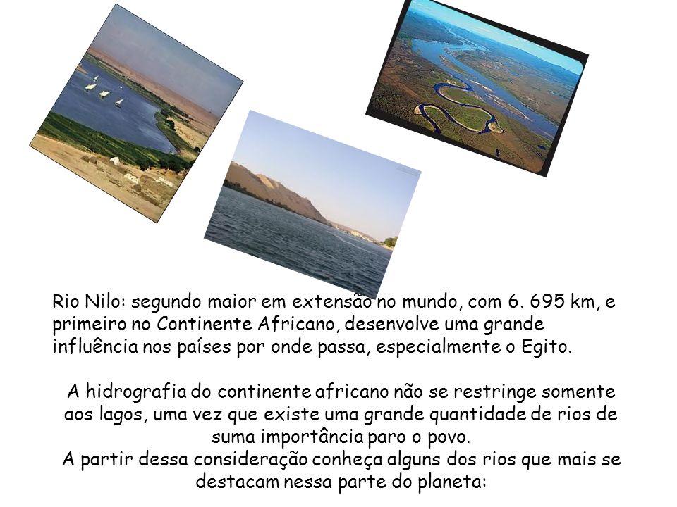 Rio Nilo: segundo maior em extensão no mundo, com 6