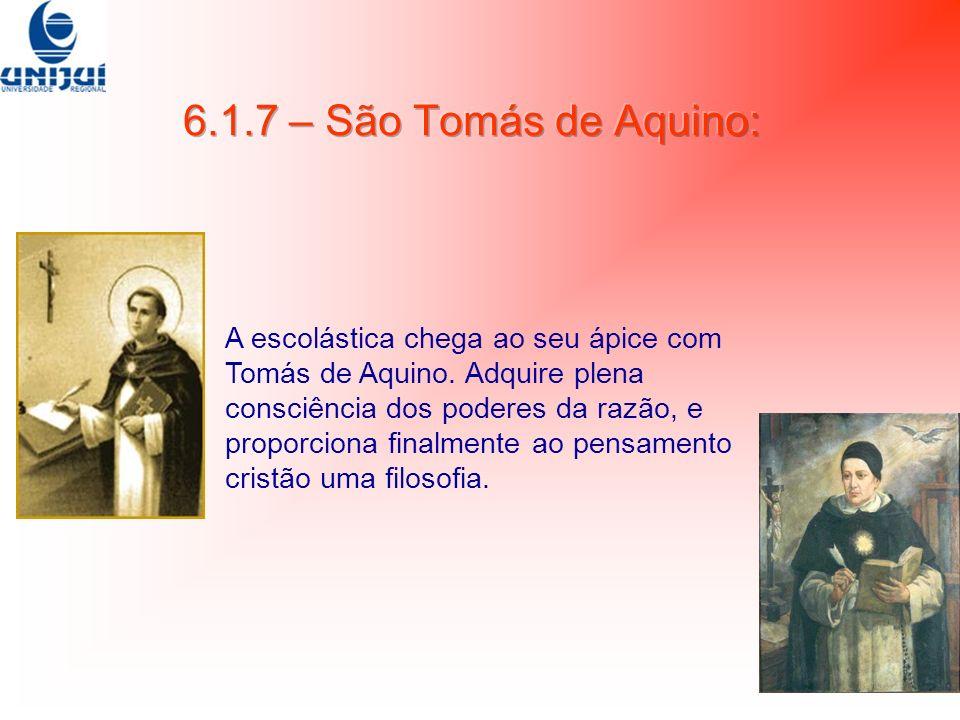 6.1.7 – São Tomás de Aquino: