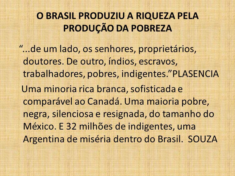O BRASIL PRODUZIU A RIQUEZA PELA PRODUÇÃO DA POBREZA