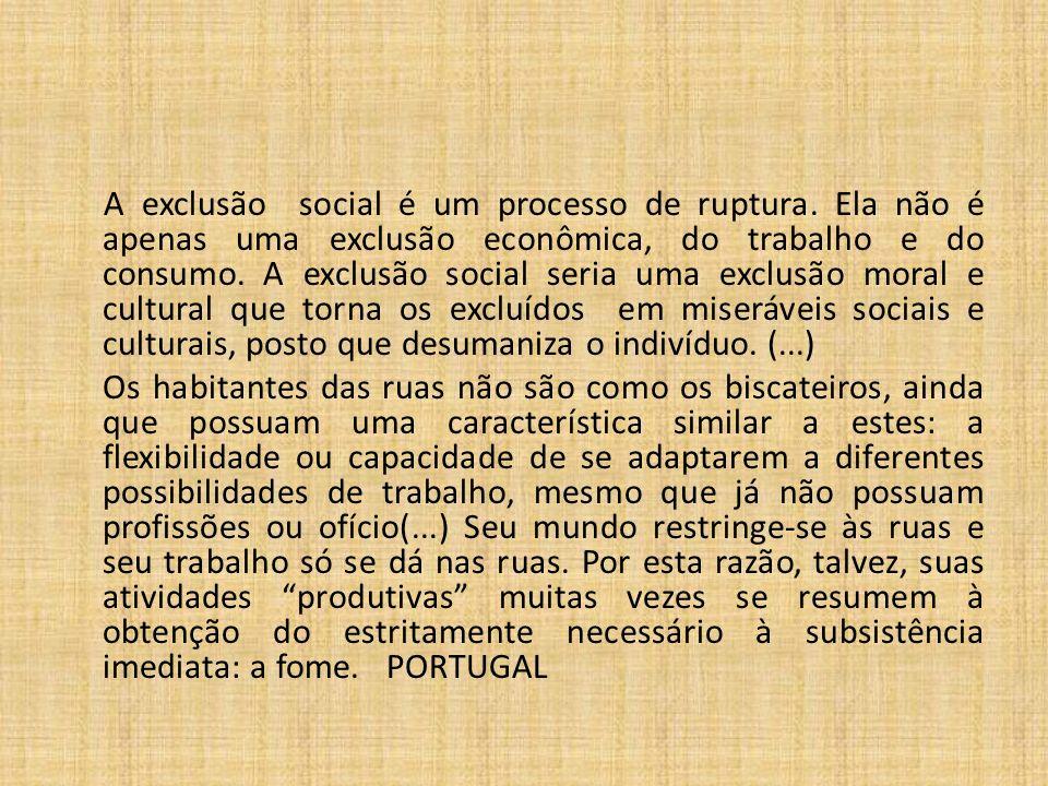 A exclusão social é um processo de ruptura