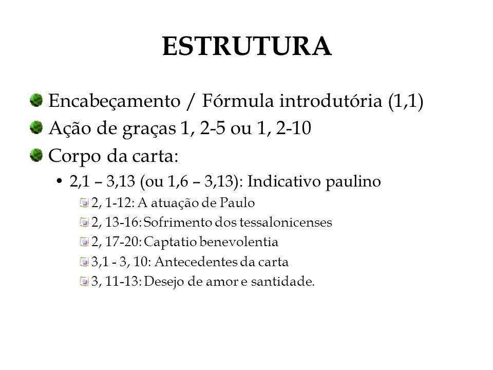 ESTRUTURA Encabeçamento / Fórmula introdutória (1,1)