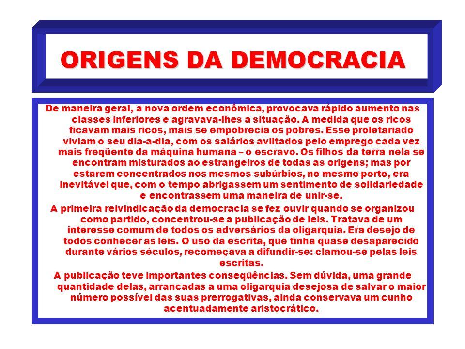 ORIGENS DA DEMOCRACIA